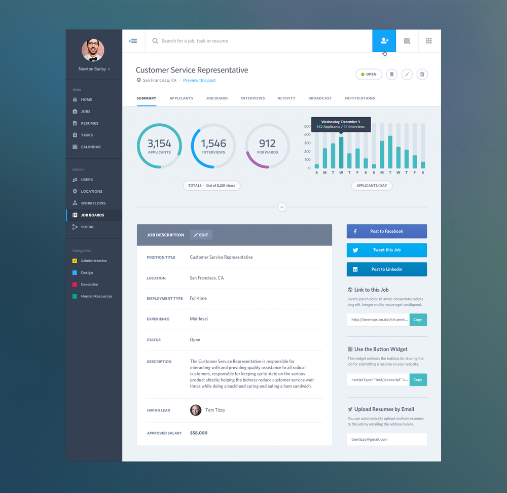 Source: https://dribbble.com/shots/1315388-Dashboard-Web-App-Product-UI-Design-Job-Summary