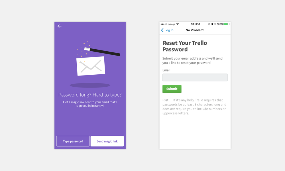 Example from Slack and Trello