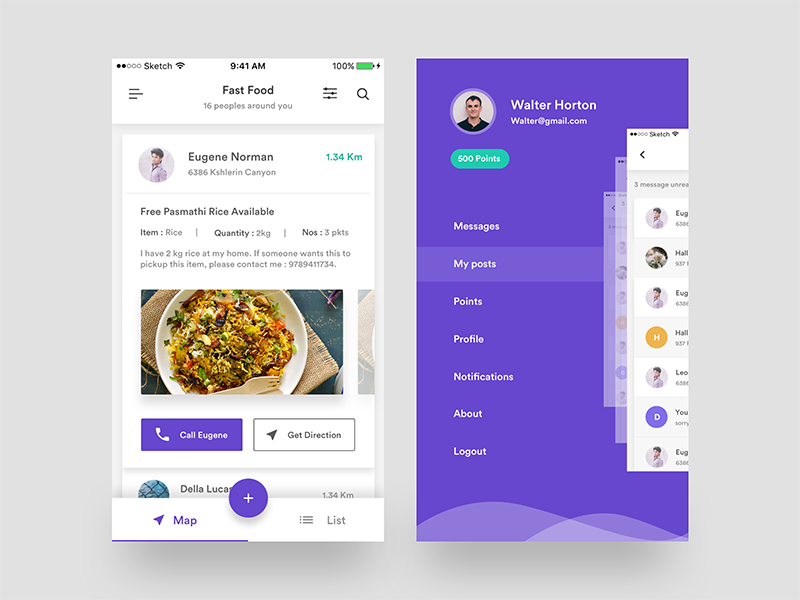 User Details & Menu — ZAD App iOS by Divan Raj