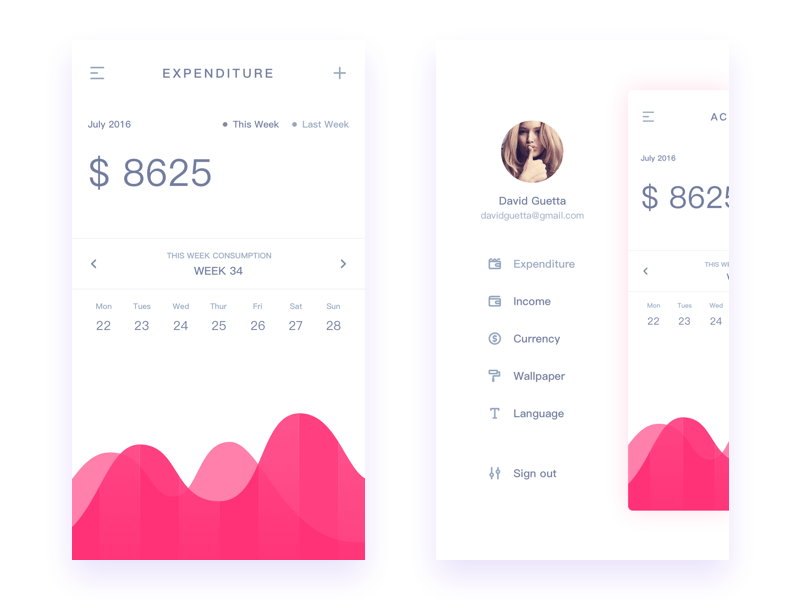 Accounting end mobile application design by Zhao Legs