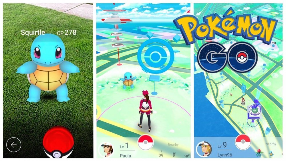 Pokemon go is good example of app that organizes information by location
