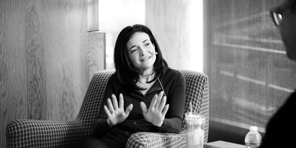 Facebook COO Sheryl Sandberg talks leadership lessons with Reid Hoffman on the Masters of Scale podcast. Photo by Jacqui Ipp.