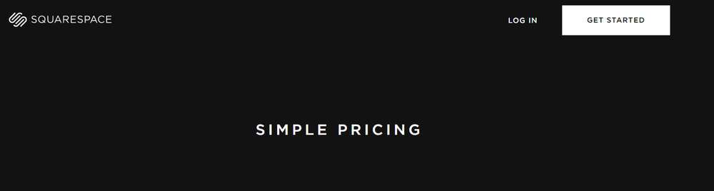 squarespace — SIMPLE PRICING