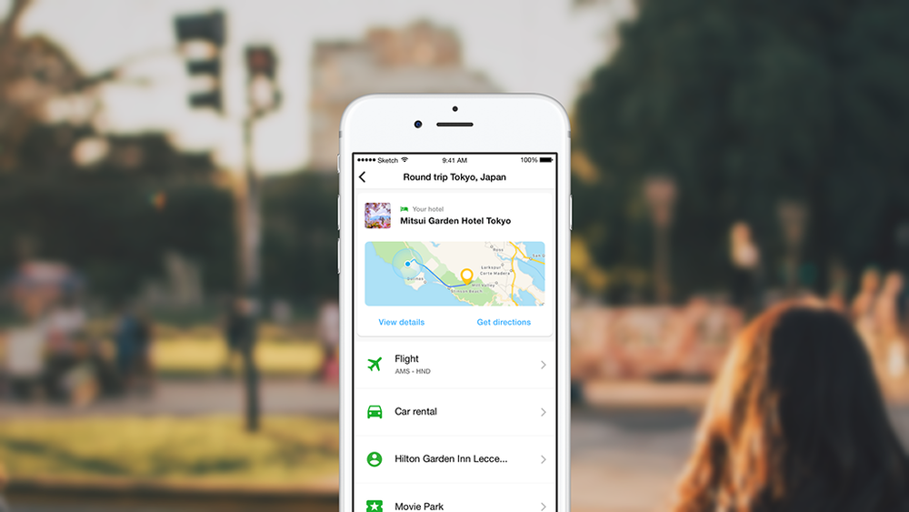 Once arrived at the destination, users receive automatically directions to their accommodation