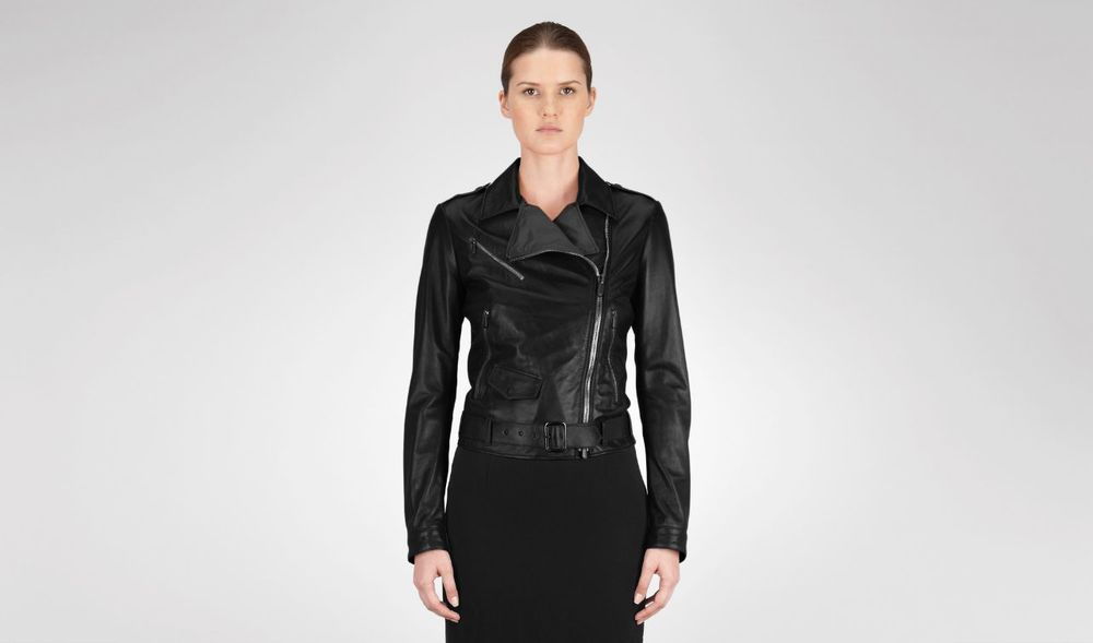 Bottega Veneta Nero Shiny Lambskin Jacket. Photo by Bottega Veneta