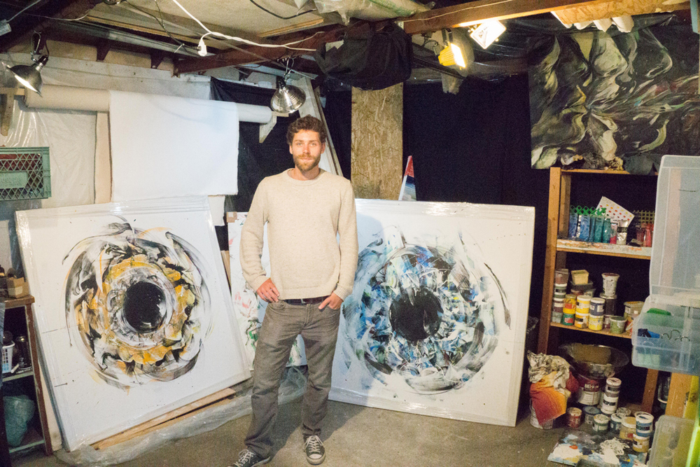 French artist Thibault Sendra in his studio in East Vancouver.  Photo: The Vancouverite