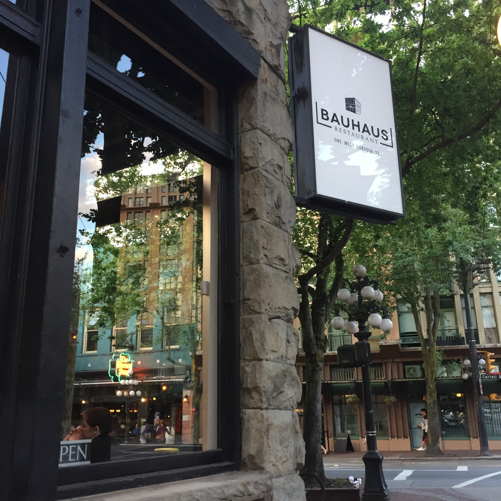 Bauhaus sits in the former Boneta space at 1 West Cordova. Photo: The Vancouverite