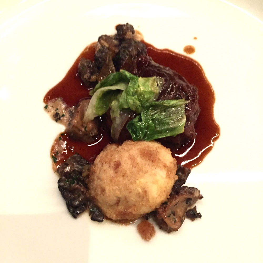 Veal Cheeks served with morel mushrooms, salad hearts and a brioche dumpling. Photo: The Vancouverite