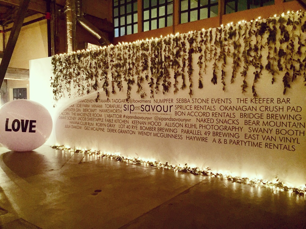 Stunning feature wall with all the sponsors and of course, the Big Love Ball. <3