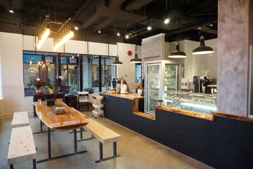 Interiors of Tangram Creamery; all designed and assembled by Mike Wong and his team.