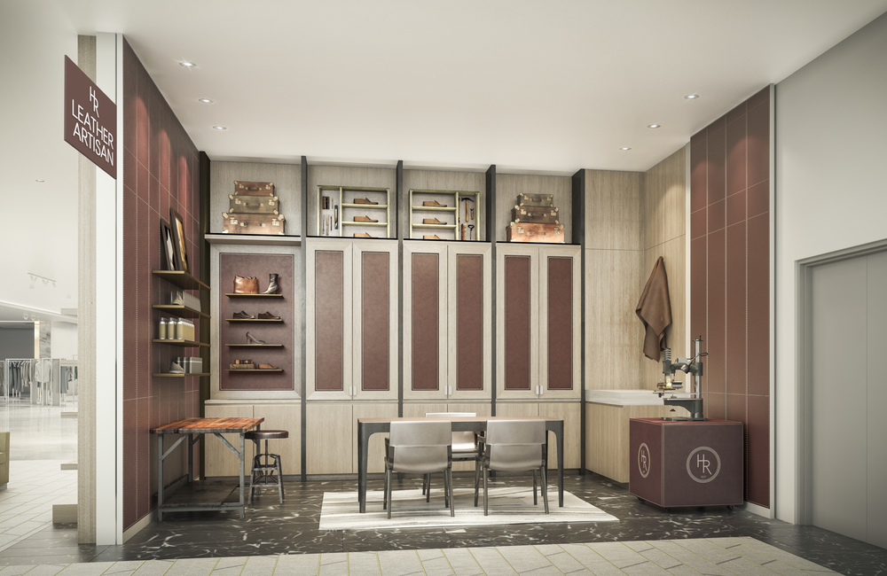 Holt Renfrew Vancouver's resident leather artisan space. Photo: Holt Renfrew