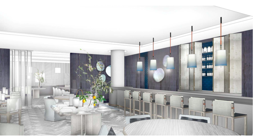 Holt Renfrew Vancouver's Cafe rendering. Photo: Holt Renfrew