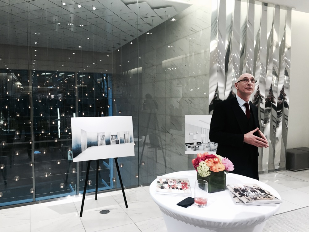 The Holt Renfrew executive team explains renderings for the revamped Vancouver store. Photo: The Vancouverite