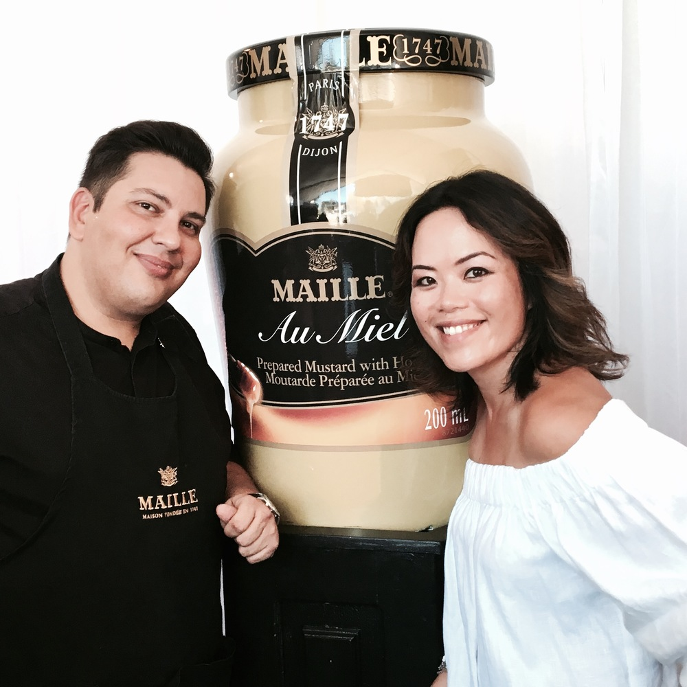 With La Maison Maille Mustard Sommelier, Harry Lalousis.
