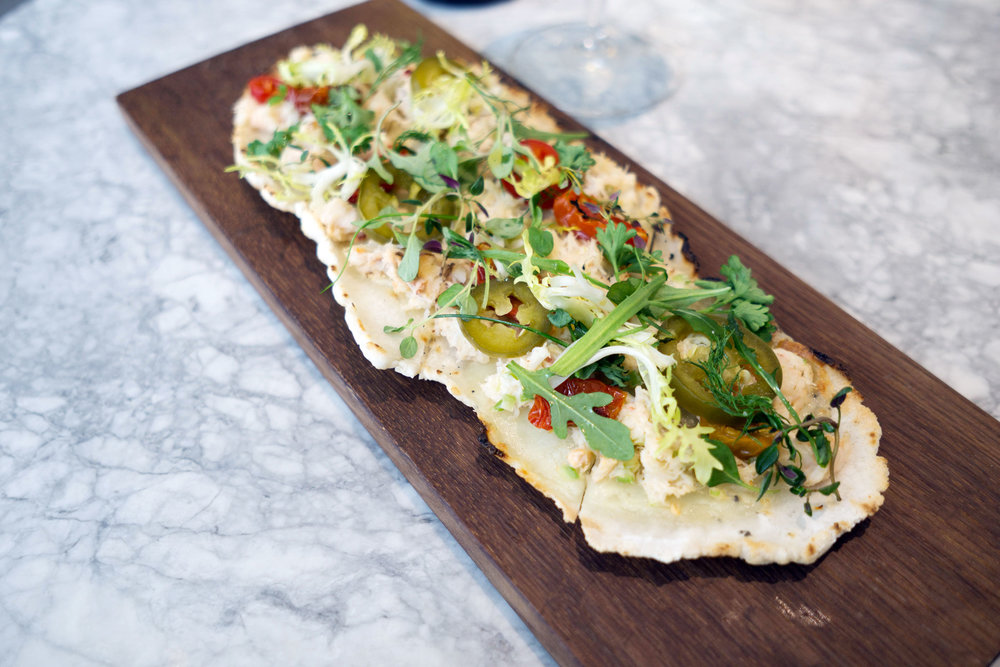 Dungeness Crab Flatbread. Photo: Cindy Yu