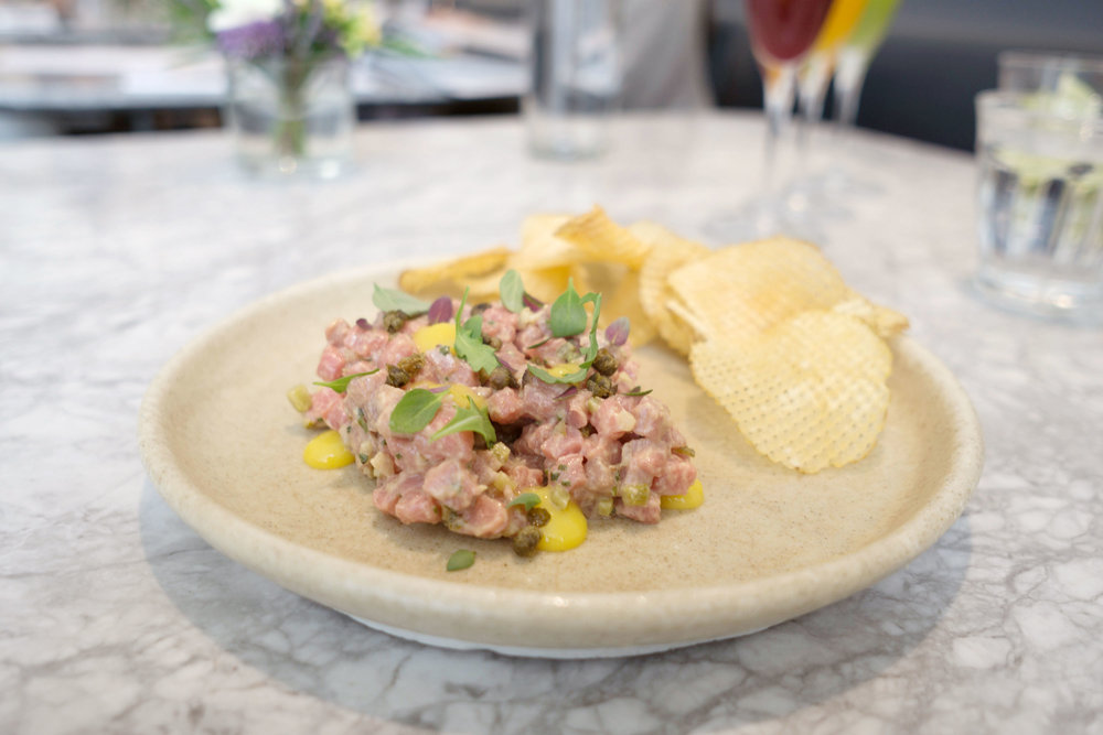 Angus Tip Tenderloin Beef Tartare. Photo: Cindy Yu