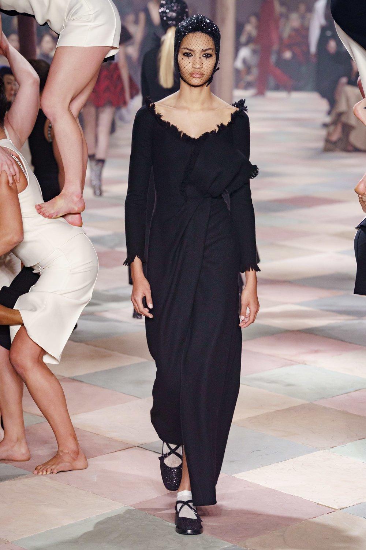 Dior Long Black Dress.jpg