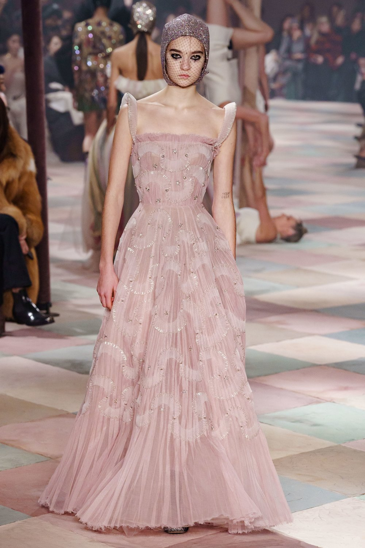 Dior pink applique floorlength gown.jpg