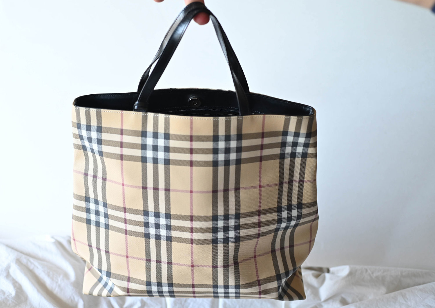 45eeefac09d9 Burberry London Nova Check Tote — The Vancouverite