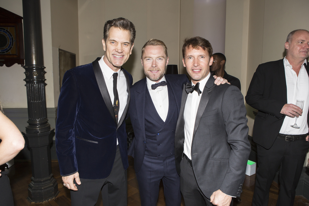 Chris Isaak, Ronan Keating and James Blunt