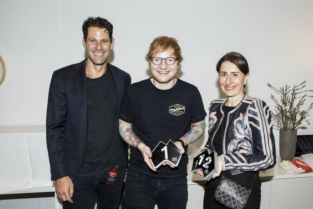Dan Rosen (ARIA), Ed Sheeran, Gladys Berejiklian MP