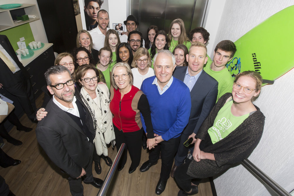 PM Malcolm Turnbull with Headspace Bondi Junction