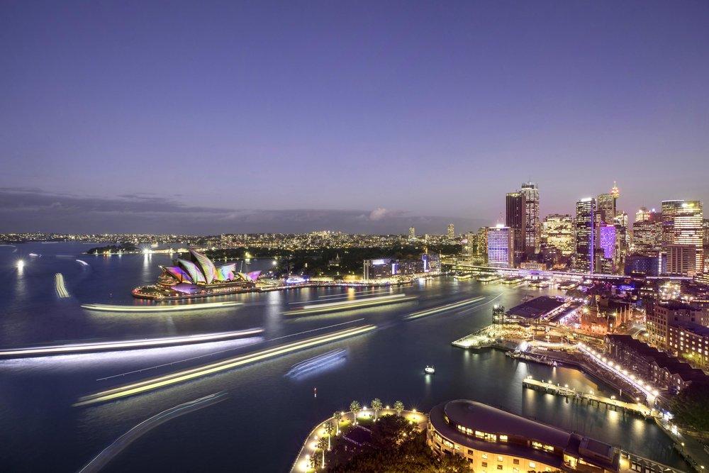 Sydney Harbour for Vivid