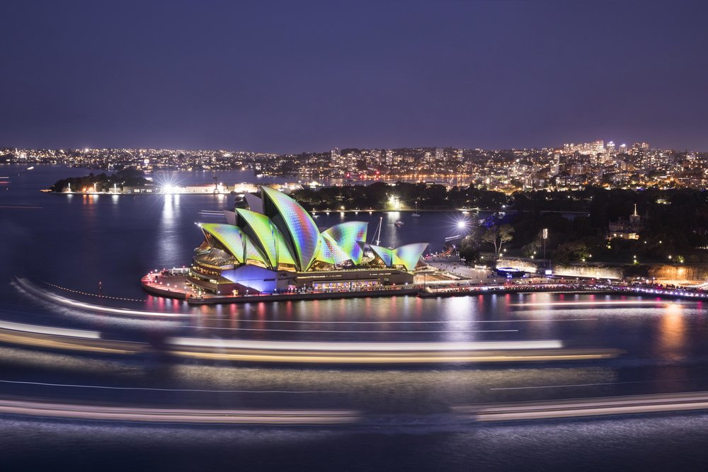 Sydney Harbour for Vivid Festival