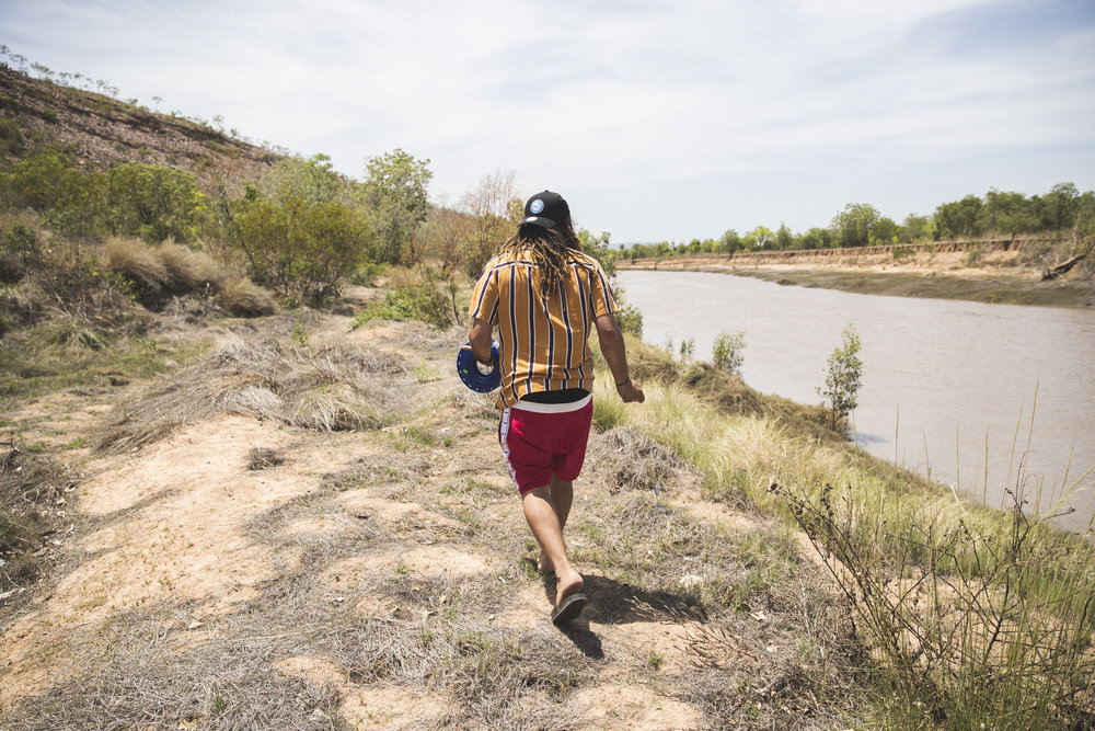 Dallas fishing on the croc infested King River