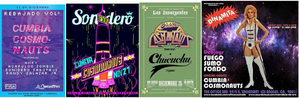 selection of Mexico/USA Tour flyers...