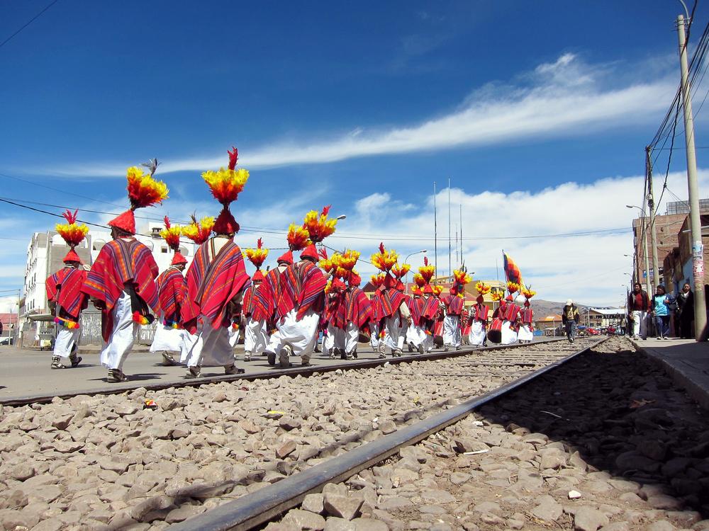 Festival Goers - Puno, Peru
