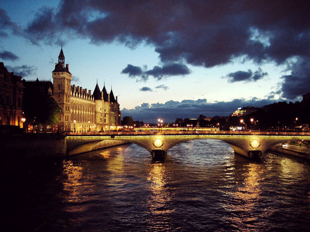 La Seine At Dusk - Paris, France