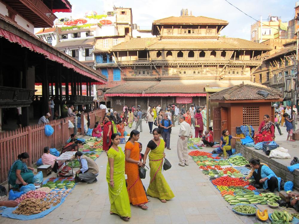 Market Ladies - Kathmandu, Nepal