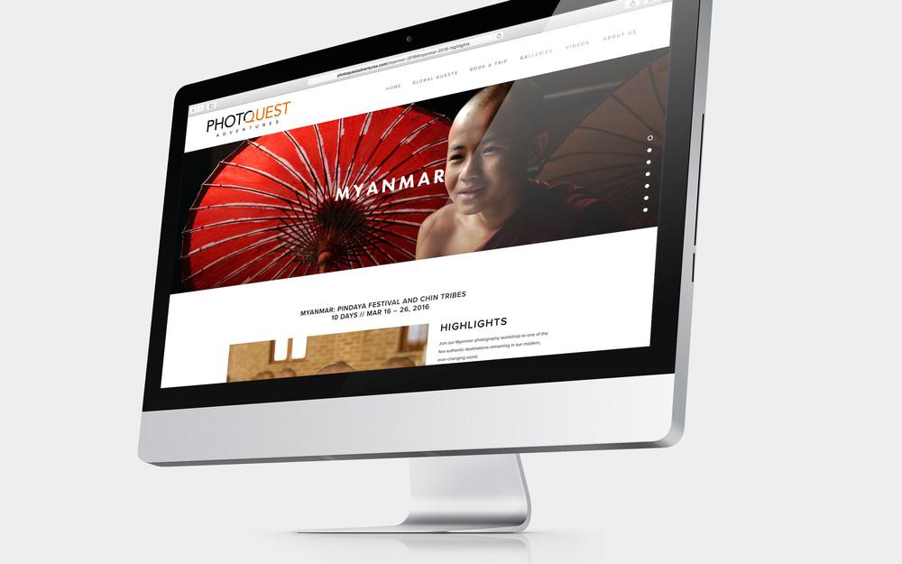 PHOTOQUEST ADVENTURES   rebranding - logo / website / design / advertising