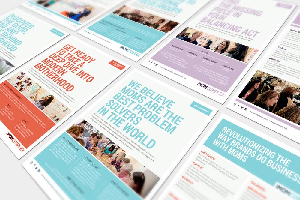 THE MOM COMPLEX  rebranding - logo / website / design
