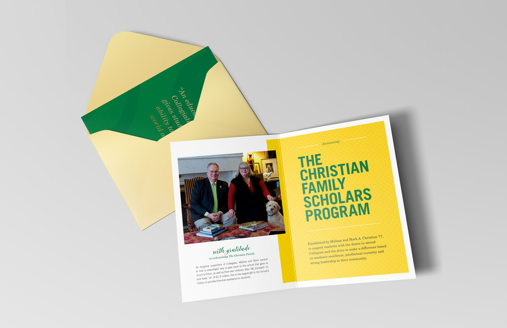 COLLEGIATE SCHOOL  branding - design / copy