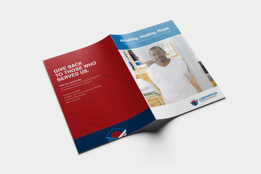 LIBERATION VETERAN SERVICES rebranding - logo / design / copy