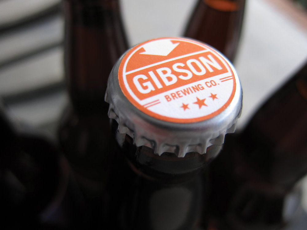 GIBSON BREWING CO  brand launch - logo / website / packaging / design / copy