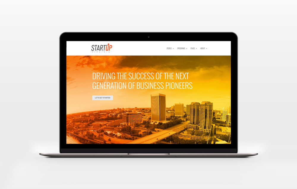 STARTUP VIRGINIA   brand launch - logo / website / design / copy