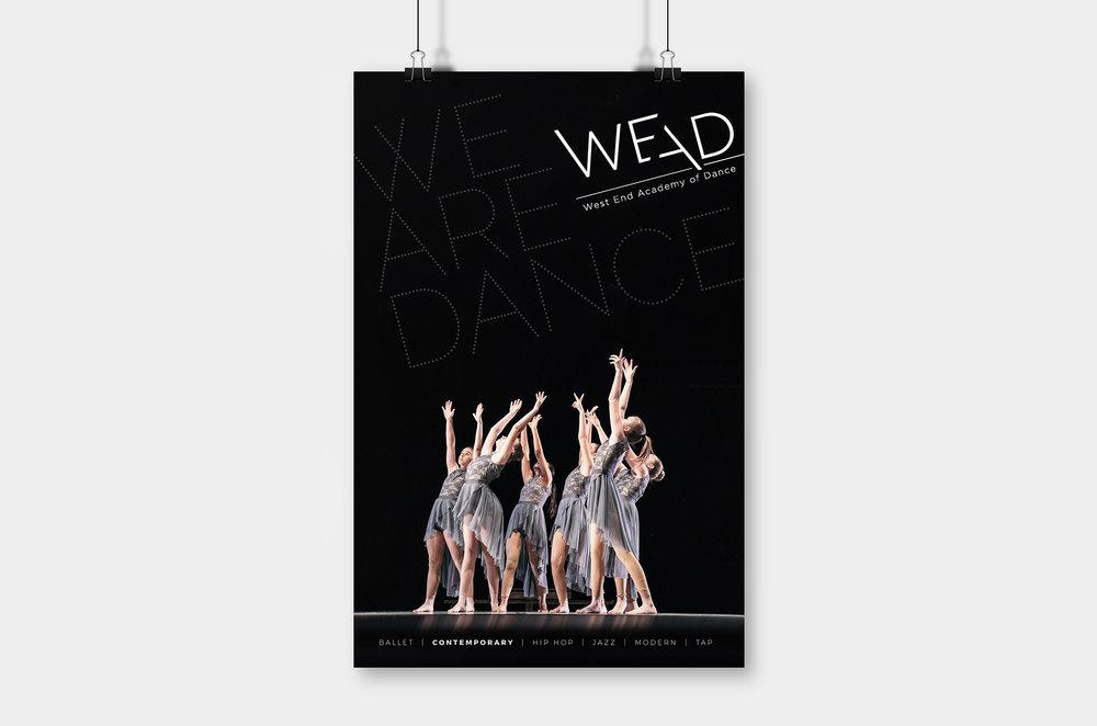 WEST END ACADEMY OF DANCE  rebranding - logo / website / design / copy