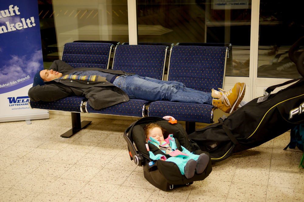 Tidigt flyg tog ut sin rätt på alla resande =)