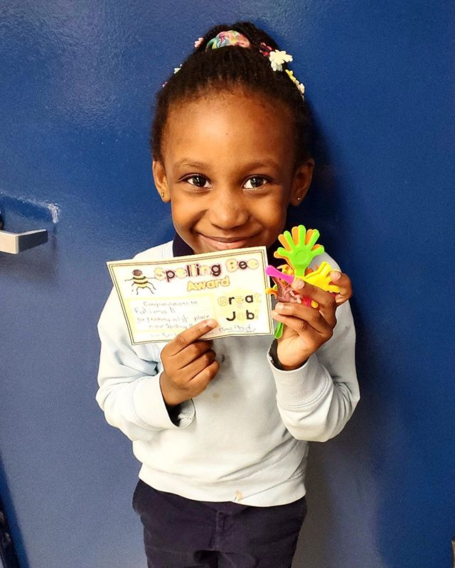 Congratulations to our #firstgrade SPELLING BEE 🐝 WINNER! #nyfacs #harlem #charterschool #harlem #newyorkfrenchamericancharterschool #manhattan #spellingbee #winner #awards  #cheese #smile #teachersofinstagram #culture #english #french #teacher #students #education #friends #thefuture #classroom #fun #bilingual #instakids #instagood #instalike #follow #newyorkfrenchamericancharterschool #followme #followgram #photooftheday