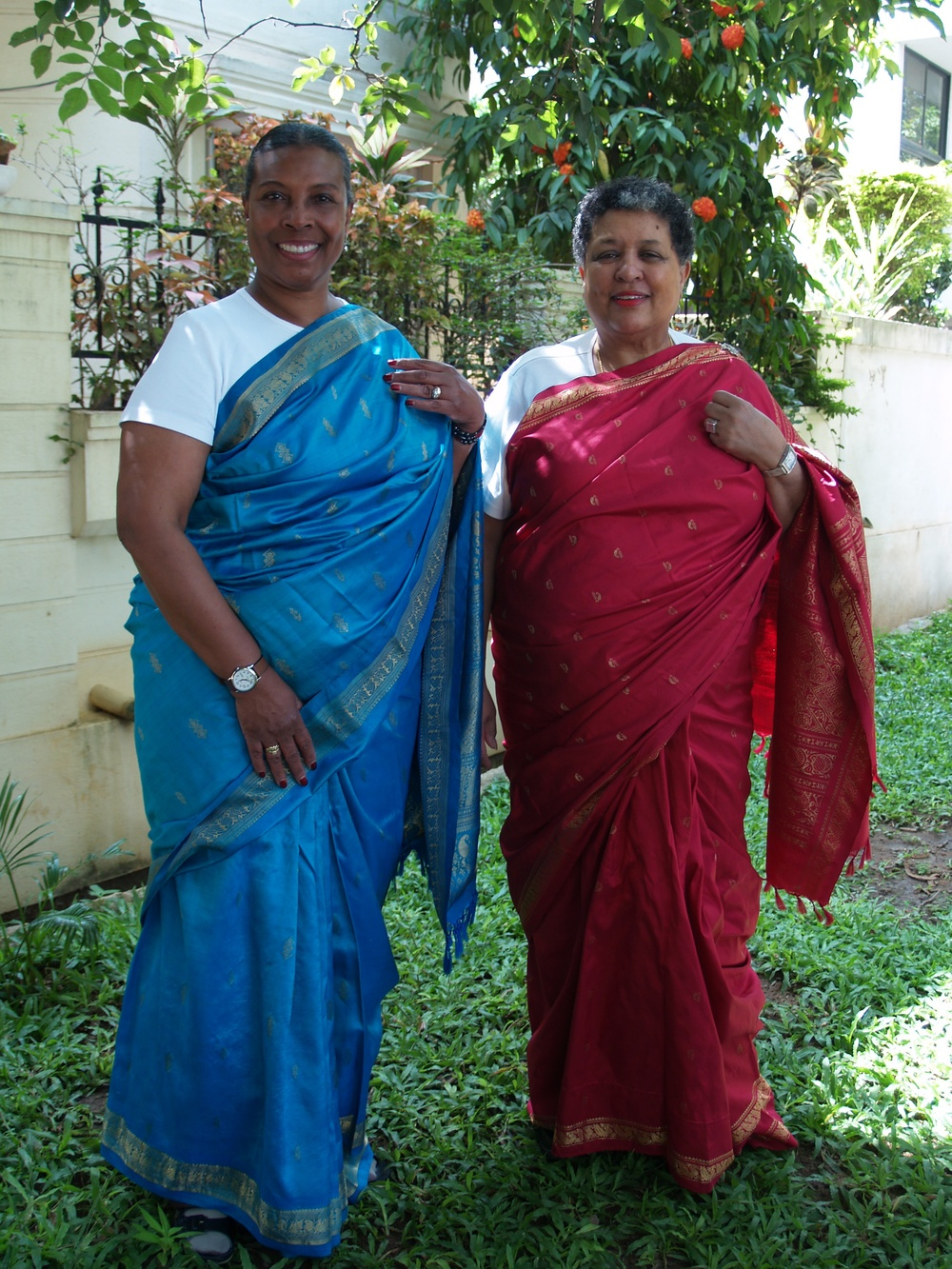 Here we are in Bangalore, India dressed in the finest saris ever! We loved India and would return again any time.