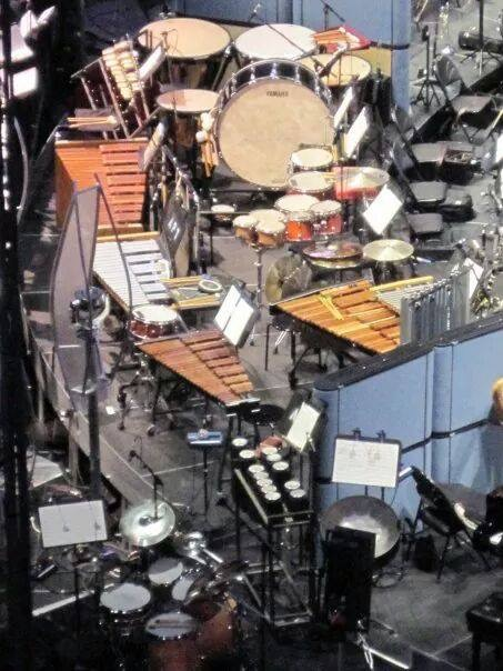 Percussion setup for the Star Wars in Concert 2010 North American Tour.