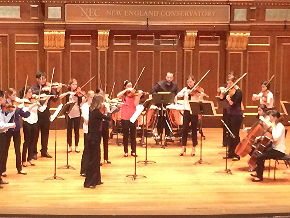 New England Conservatory Chamber Orchestra.