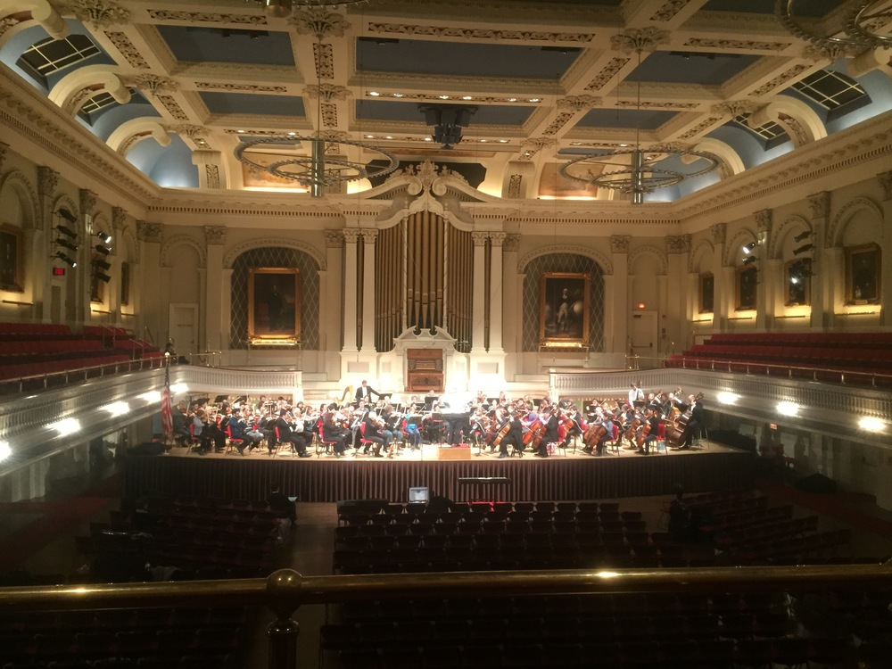 Boston Philharmonic performing at Mechanics Hall.