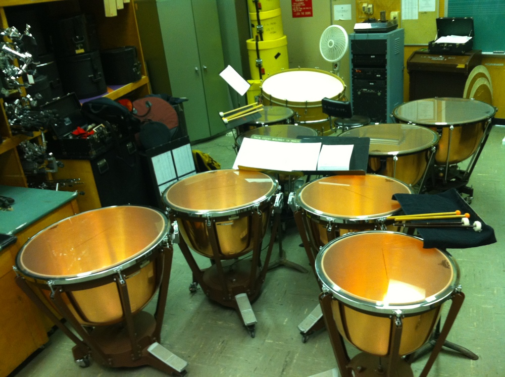 Double Timpani Crazy Excerpts rehearsal for my senior recital at Indiana University with Ross Erickson.