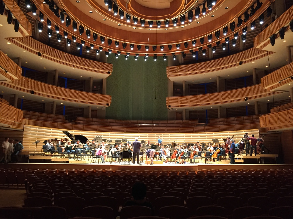 Rehearsal with the New World Symphony at the Arsht Center in Miami Florida.