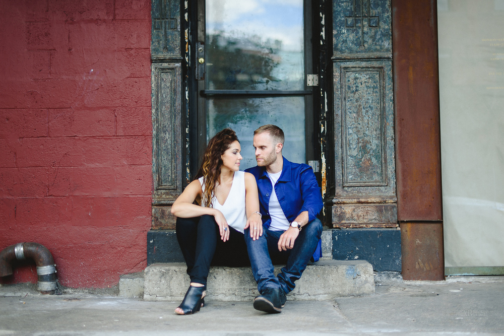 Non-cheesy Highline Engagement Photos