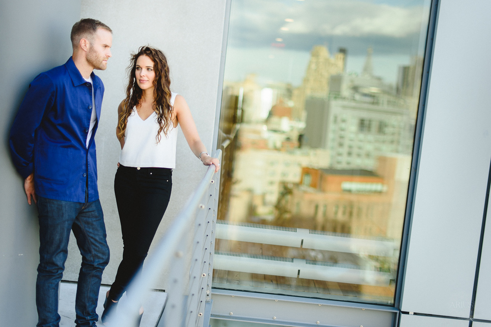 Whitney Museum Engagement Photos
